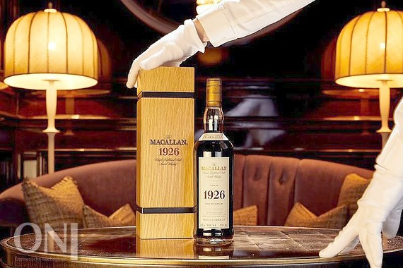 "Eine Flasche mit Whisky der Marke ""The Macallan 1926 Fine and Rare"". Foto: Peter Dibdin/Whisky Auctioneer/dpa"